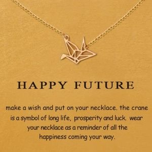 Dogeared Gold Origami Necklace